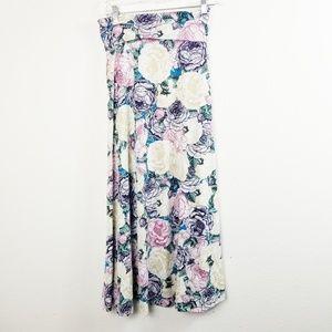 Lularoe Maxi XXS White Rose Floral Stunning xs